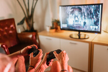 People Gaming At Home