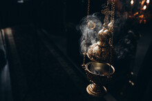 Censer In Church Incense And Smoke