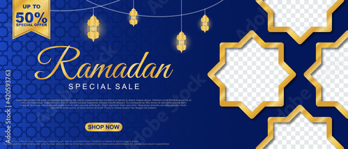 Fotografia Special Sale Ramadan Sale Islamic Ornament Lantern Banner Template