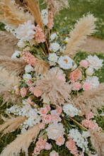 Flowers On Wedding Tables For Guests Boho Rustic Style