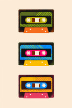 Cassette Tapes Illustration