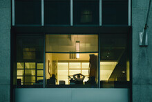 Man Inside A Manhattan Office