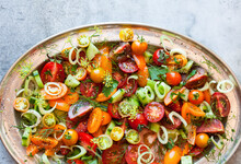 Mixed Tomato, Cucumber And Fennel Salad