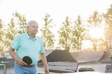 Old Man Playing Ping Pong