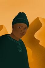 African Man Digital Illustration
