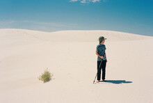 Boy In White Sands Dune