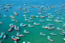 The Boats On The Sea From Above