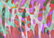 Illustration Of Abstract Distorted Bright Colorful Shapes