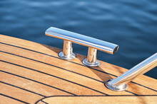 Modern Boat Deck With Mooring Cleat