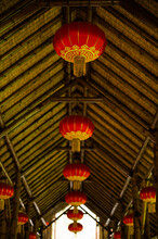 Lanterns Hanged On The Roof