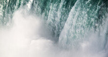 Abstract Closeup Of Canadian Niagara Falls