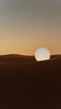 Sphere Rolling Through The Desert