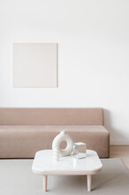 Interior Of Stylish Light Living Room