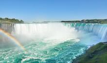 Canadian Niagara Falls With Rainbow