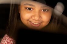 Portrait Of An Expressive Teenage Girl