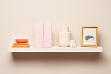 Various Simple Decorations On Shelf
