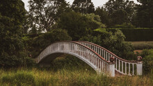 A White And Red Bridge