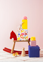 Hobby Horse Surrounded By Birthday Presents