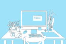 Home Office Illustration