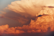 Dramatic Clouds On Sunset