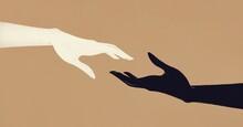 Black And White Hand