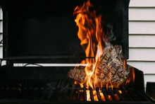 Grilled Steak Over Fire