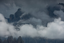 Dolomites And Stormy Clouds