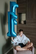 A Young Boy Celebrates His Birthday.