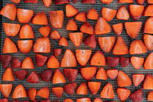 Sliced Strawberries Pattern From Above