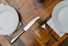 Silverware On A Wooden Table