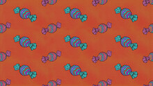 Candies Pattern Trick Or Treat Christmas Illustration