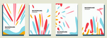 Set Of Abstract Creative Universal Artistic Templates. Good For Poster, Card, Invitation, Flyer, Cover, Banner, Placard, Brochure And Other Graphic Design