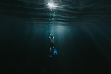 Man Comes Up From Deep Water