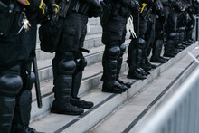 Police Officers In Combat Suits
