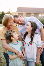 Family Portrait With Grandparents And Grandchildren