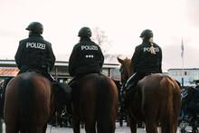 German Police Officers On Horses