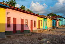 Colorful House Fronts. Trinidad, Cuba
