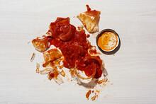 Broken Tomato Sauce Jar