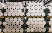 Aluminum Billet In Industrial Storage Facility