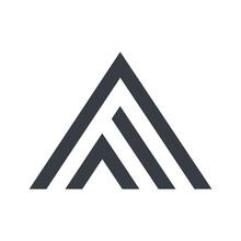 Triangle AF Letter Logo Design Template. Vector Illustration.