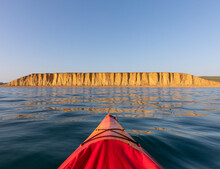 Kayak And Sea Cliffs