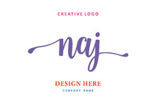 NAJ Lettering Logo Is Simple, Easy To Understand And Authoritative