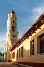 August 25, 2019: Tower Of St. Francis Of Assisi Convent And Church. Trinidad, Cuba