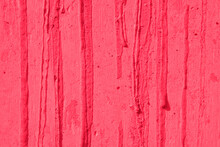 Peach Pink Paint Dripping Wall Background