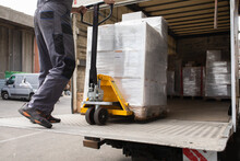 Shipping Load Ready For Truck Transport
