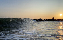 Waves On Shoreline