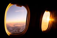 Sunrise Light Through Airplane Windows