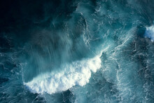 Top Down View Of Ocean Wave