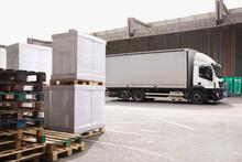 Trailer Truck Prepared To Distribute Carload