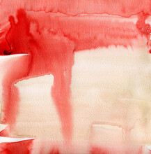 Red And Buff Watercolor Abstract Background
